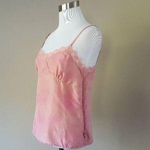 Pink SILK Camisole Adjustable Straps Old Navy